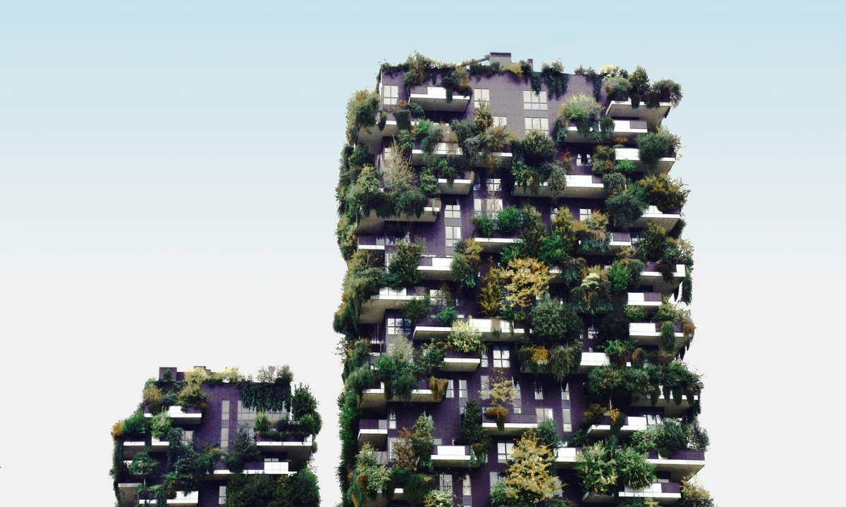 Green buildings - Bosco Verticale, Milan
