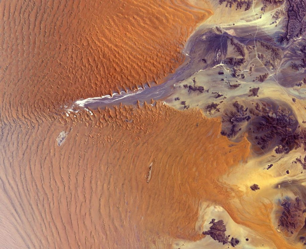Namib Desert from space