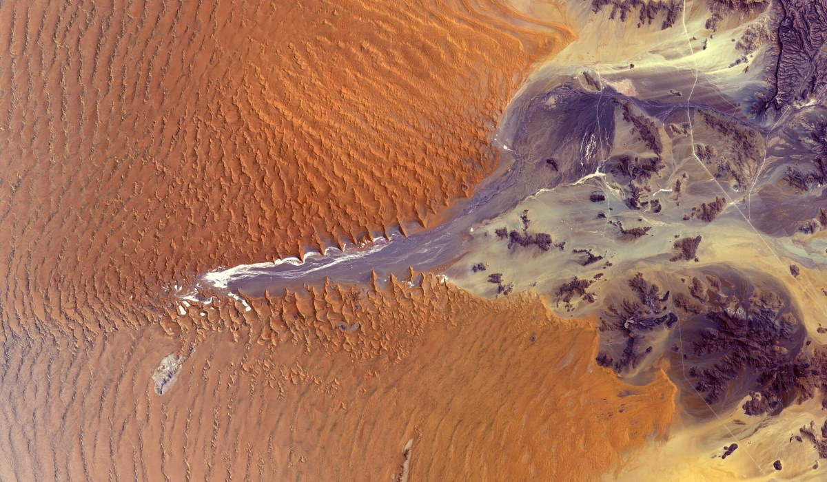 Namib Desert from space (cropped)