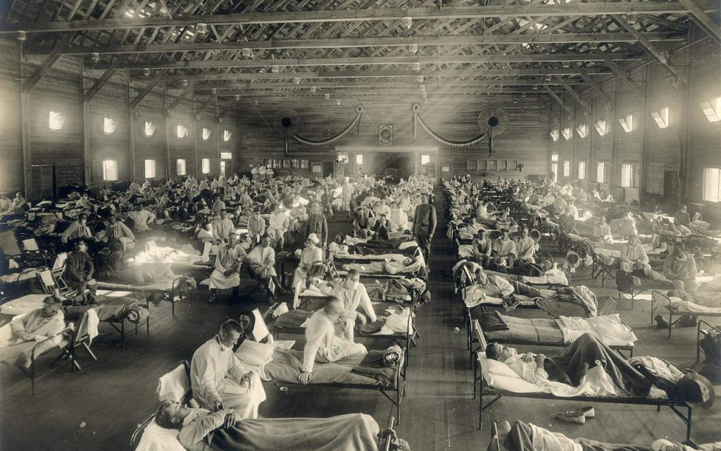 A History of Pandemics: a hospital during the Spanish Flu
