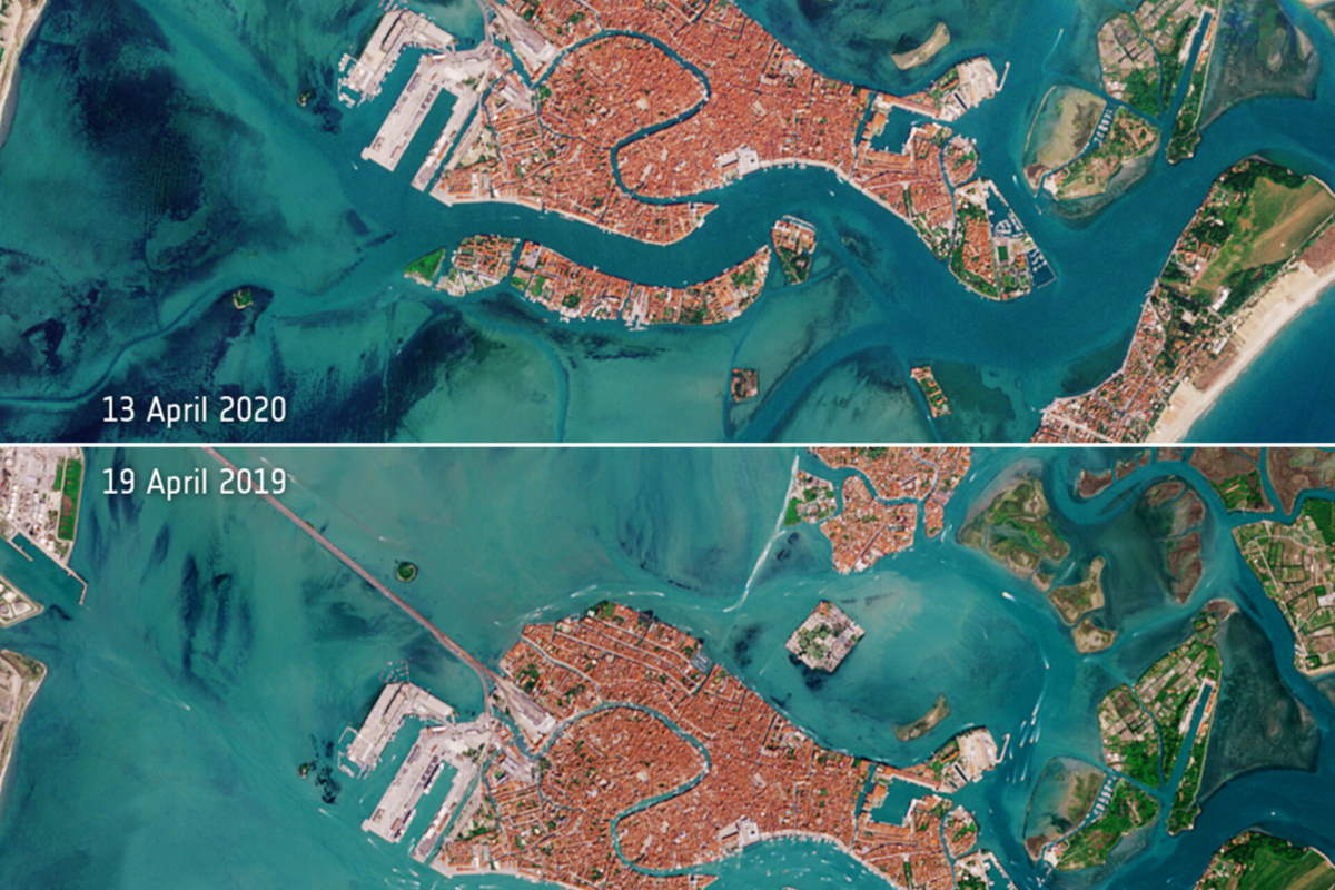 Venice from Space, 2019-2020 (cropped)