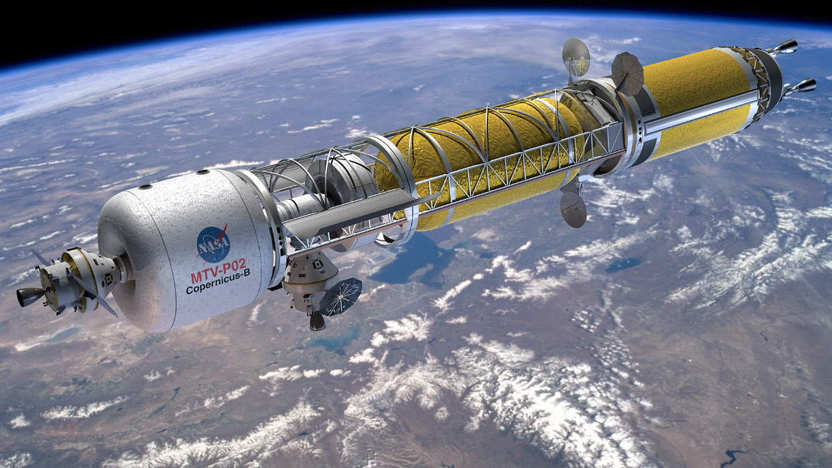 Nuclear-powered rockets - Nuclear thermal spaceship