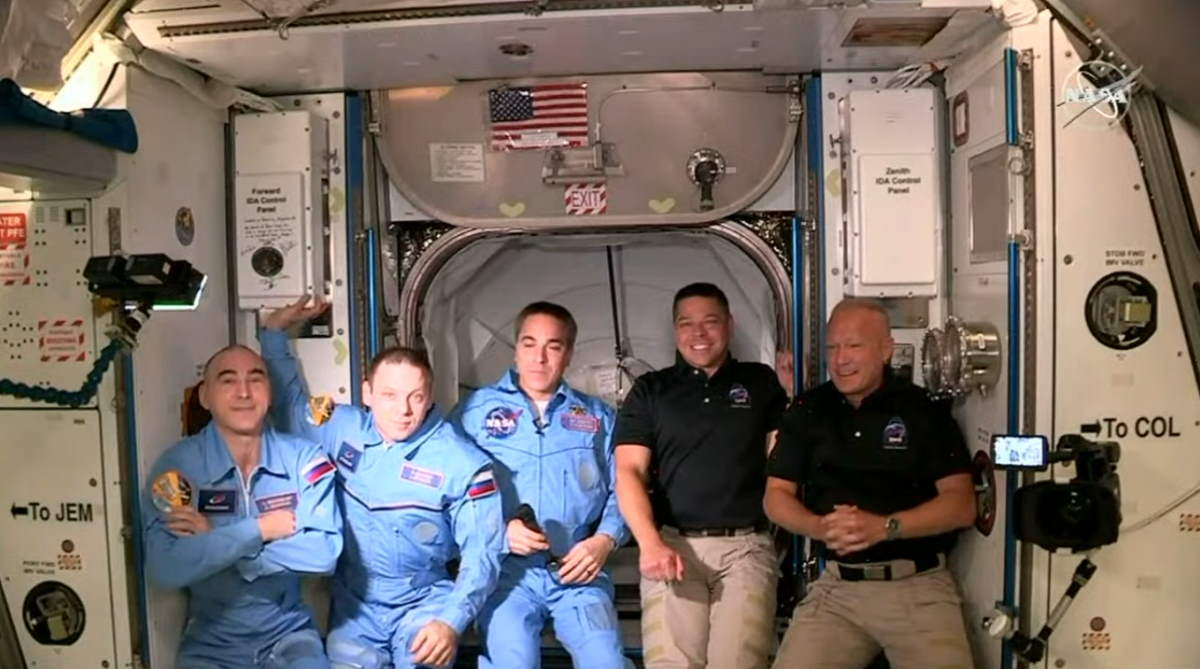 SpaceX's Crew Dragon capsule arrives at the ISS