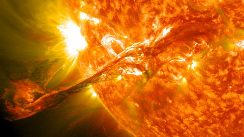 The Sun is less active than sibling stars - A Solar Filament Erupts