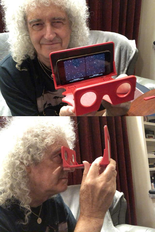 Brian May looking at New Horizons' images