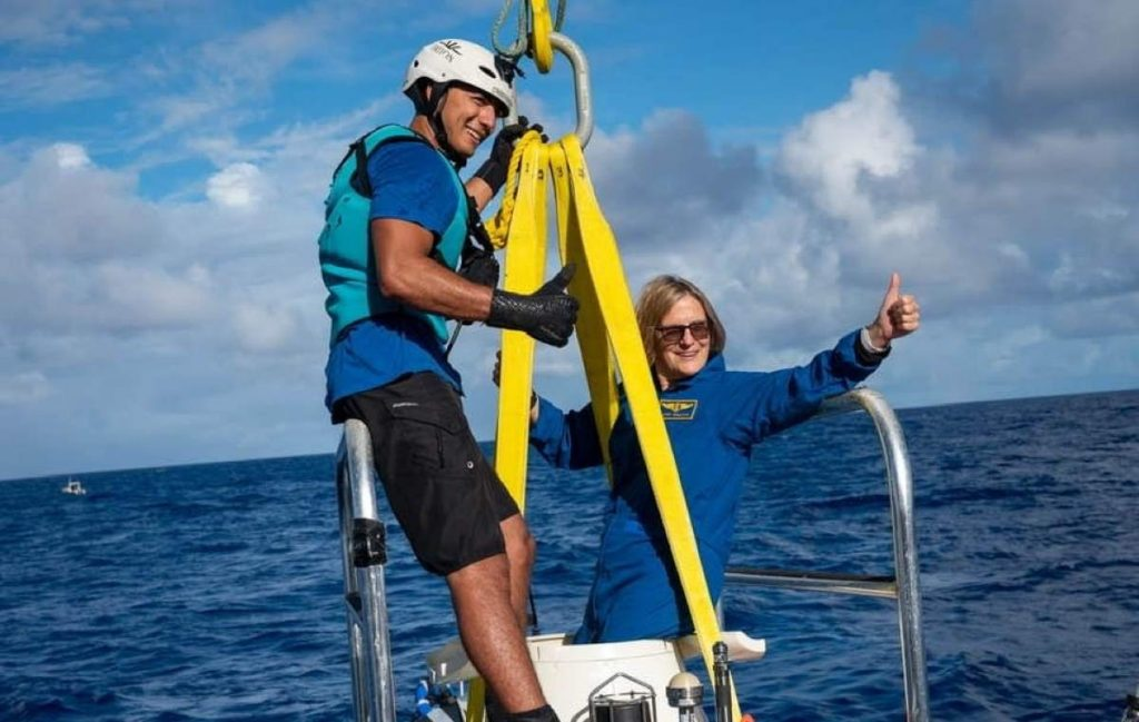 Dr. Kathryn Sullivan becomes the first woman to reach the Challenger Deep