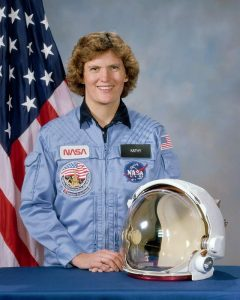 Kathryn Sullivan in her NASA uniform
