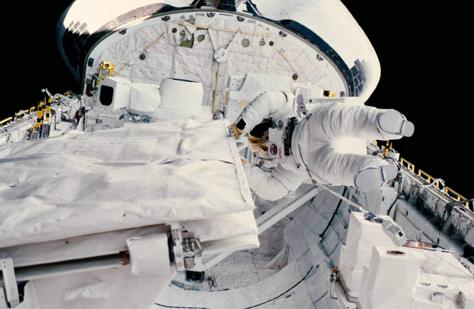 Kathryn Sullivan on October 11, 1984 Spacewalk