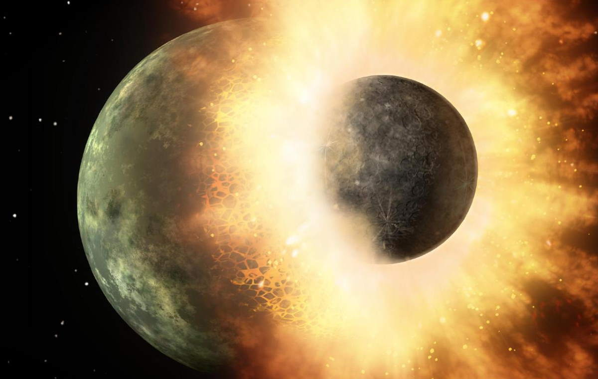 How moon was formed? Giant impact hypothesis
