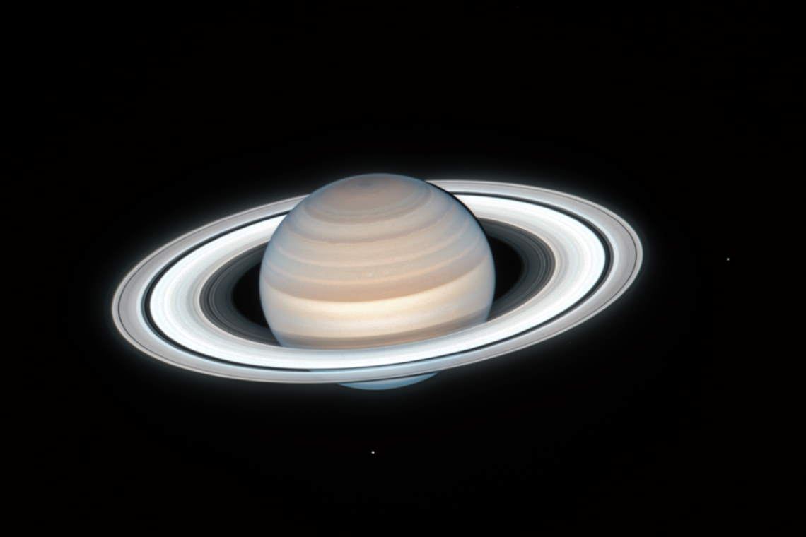 Saturn by Hubble Space Telescope. July 4, 2020