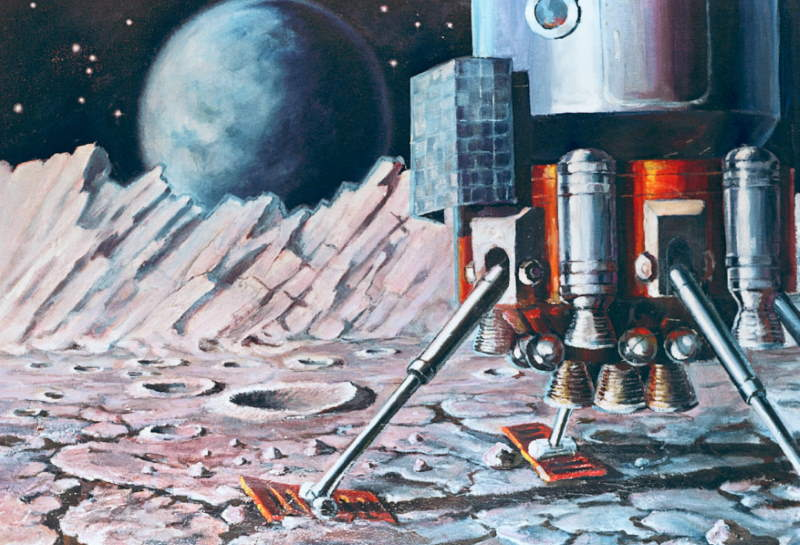One of Alexei Leonov's space exploration-themed paintings