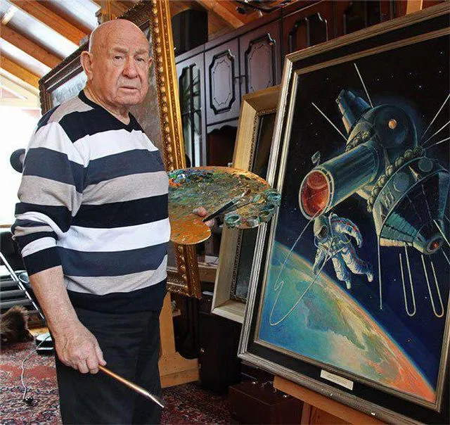 Alexei Leonov painting his own spacewalk