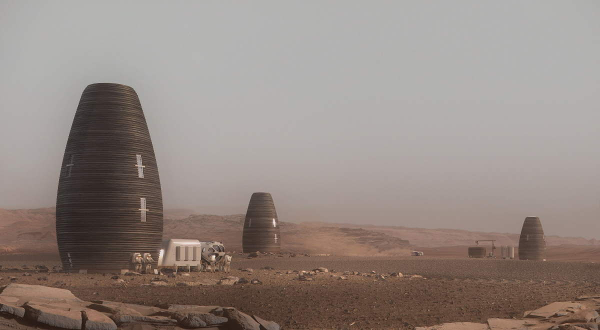 AI SpaceFactory 3D printed Mars house