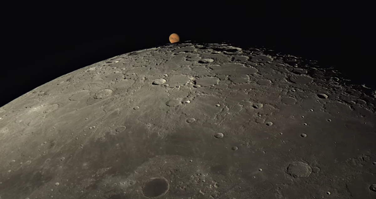 Moon passing in front of Mars