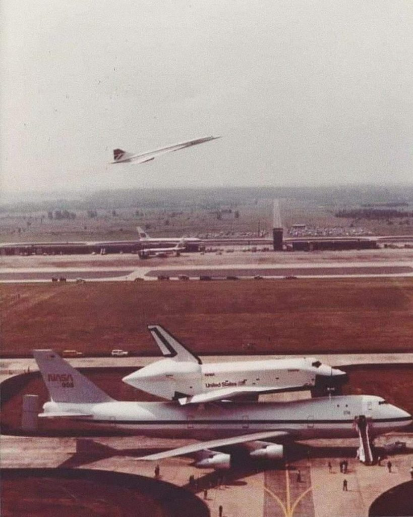 Space Shuttle, Boeing 747, and Concorde