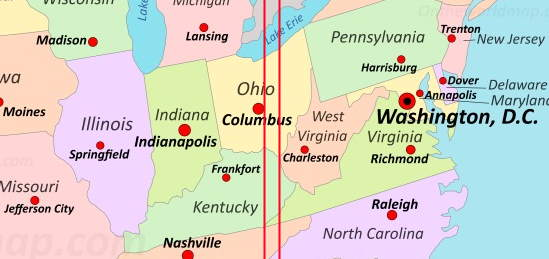 Fun geography facts - West Virginia