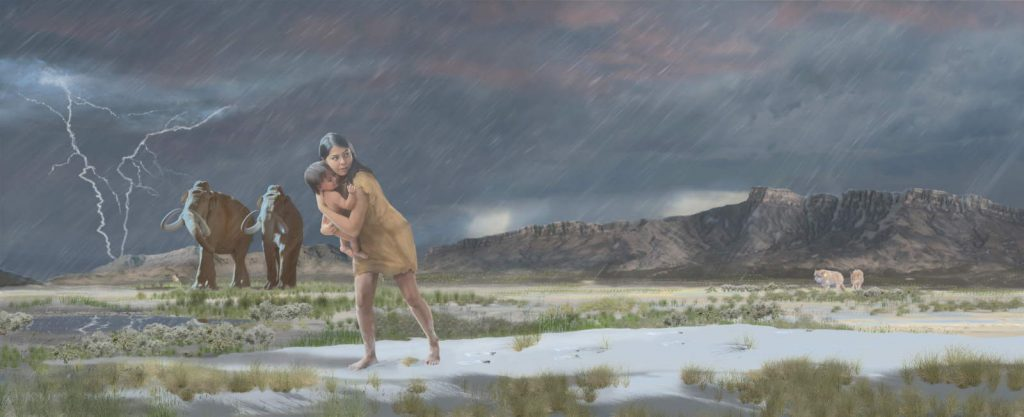 The longest known prehistoric journey: a woman and her baby