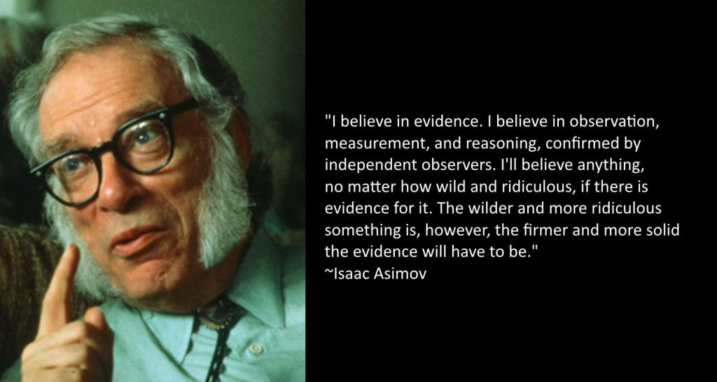 Isaac Asimov quotes - evidence