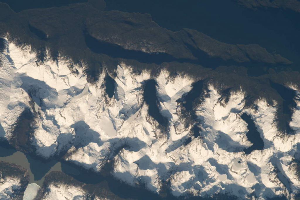 Most Beautiful Earth Photos Taken From the ISS in 2020 - Andes Mountain Range from the ISS. September 4, 2020