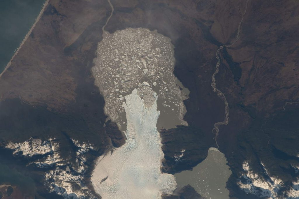 Most Beautiful Earth Photos Taken From the ISS in 2020 - A glacier in Chile from the ISS. September 1, 2020.