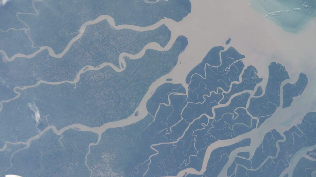 Most Beautiful Earth Photos Taken From the ISS in 2020 - Southern coast of Bangladesh from the ISS. October 16, 2020.