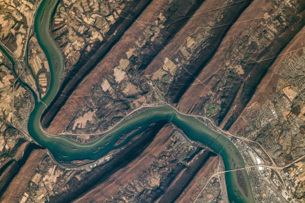 Most Beautiful Earth Photos Taken From the ISS in 2020 - Susquehanna River from the ISS. April 24, 2020.