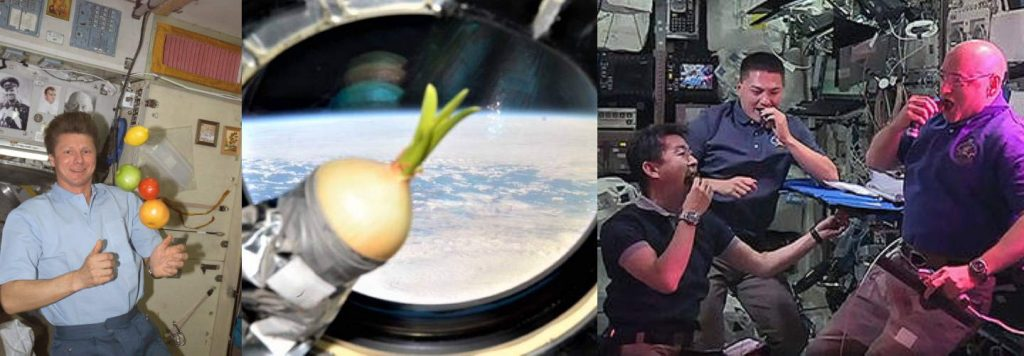 What do astronauts eat in space? vegetables and fruits