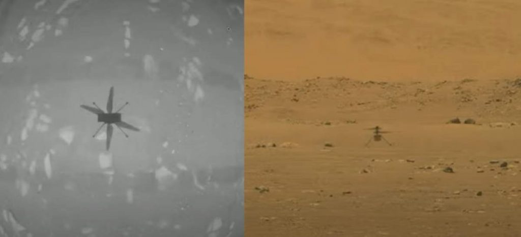 Ingenuity the Mars helicopter performs its first flight
