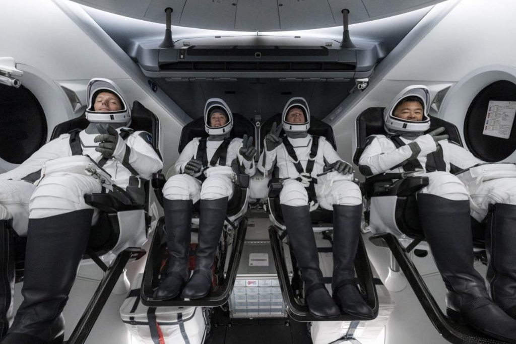 SpaceX Crew-2 astronauts before launch