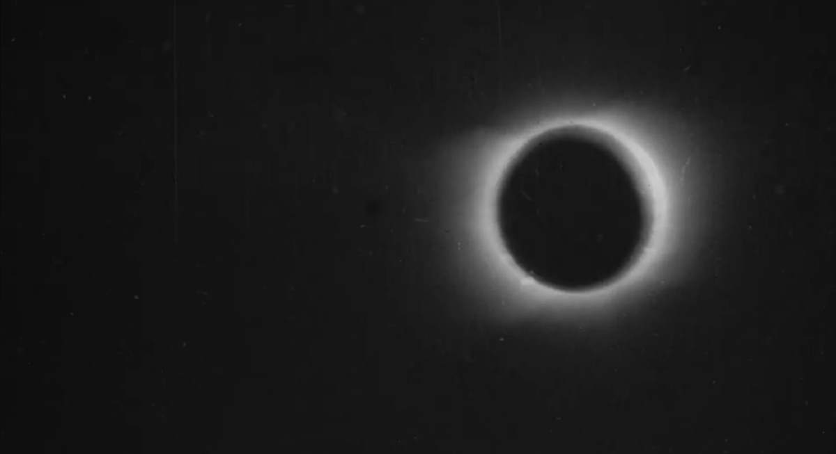 The first footage of a solar eclipse
