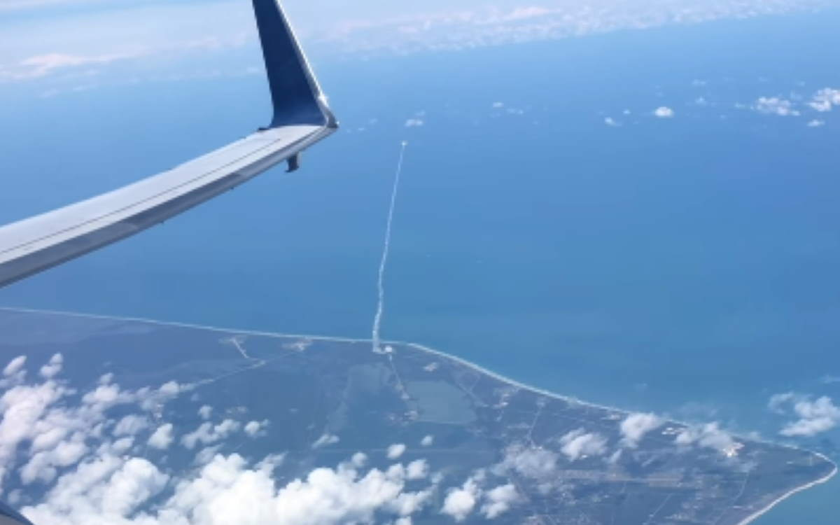 Atlas V rocket launch from a plane