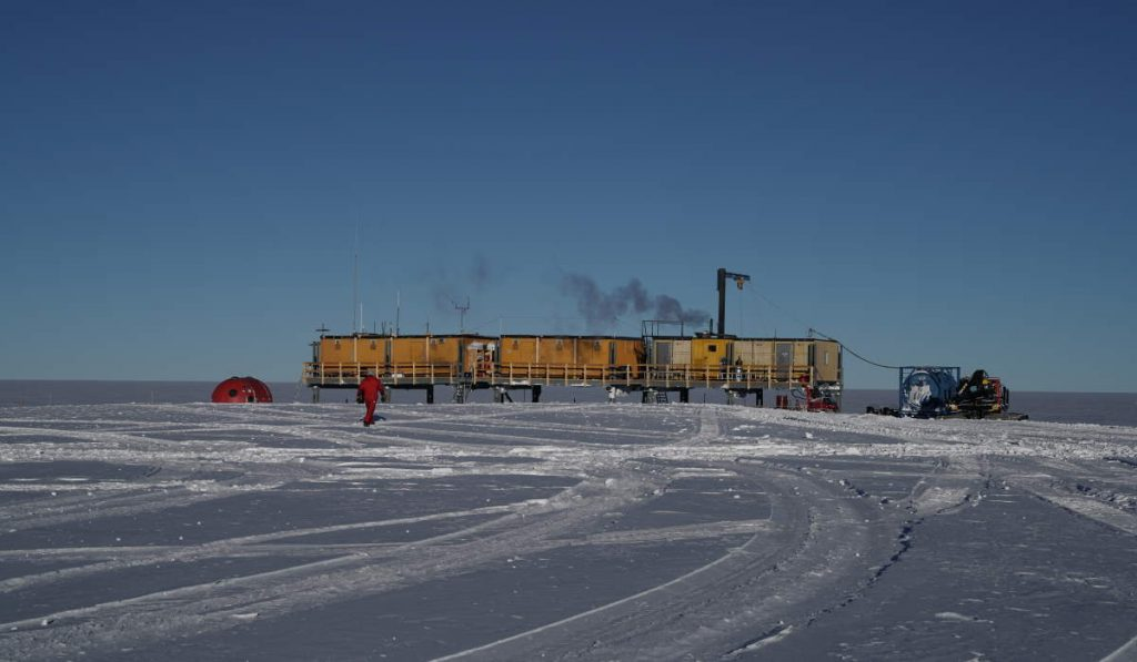 Stardust is raining down on Earth: Antarctica research station