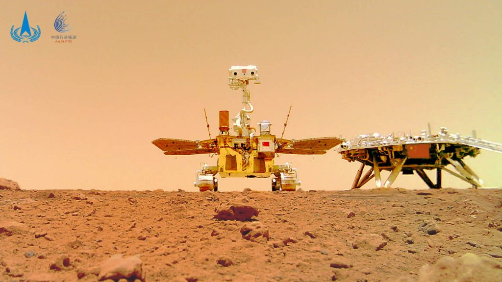 Chinese Mars rover Zhurong and Lander Tianwen-1 group selfie