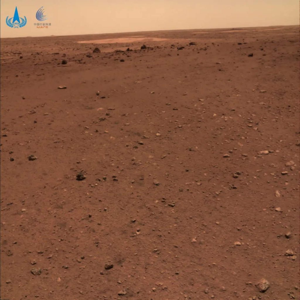 Mars panorama by the Zhurong rover