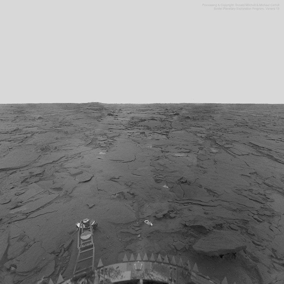 NASA has announced two missions to Venus by 2030 - Photo of the surface of Venus taken by the Venera 13 lander.