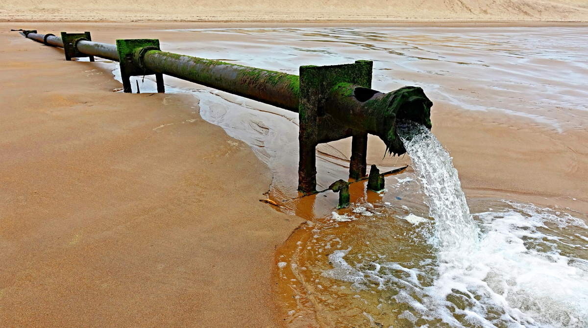 Outfall Pipe Waste