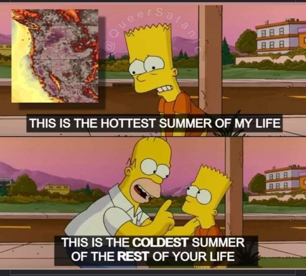The Simpsons meme about global warming